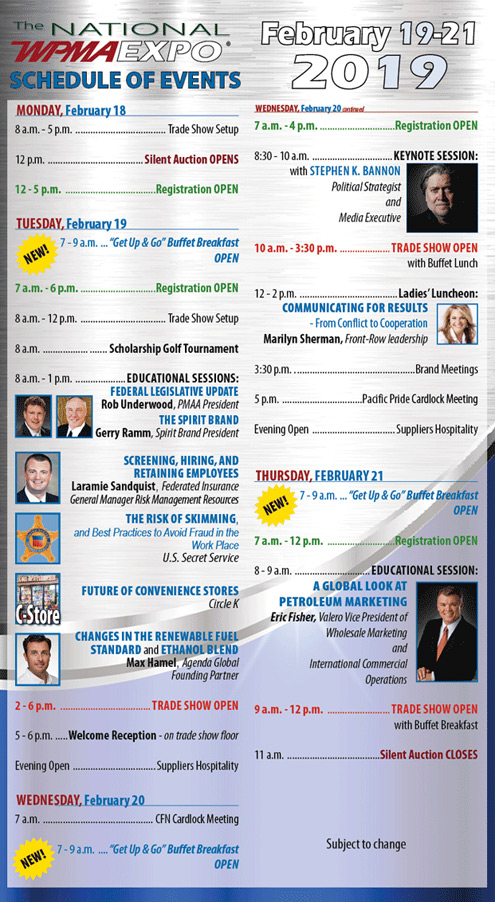 National Convention Schedule Of Events Western Petroleum